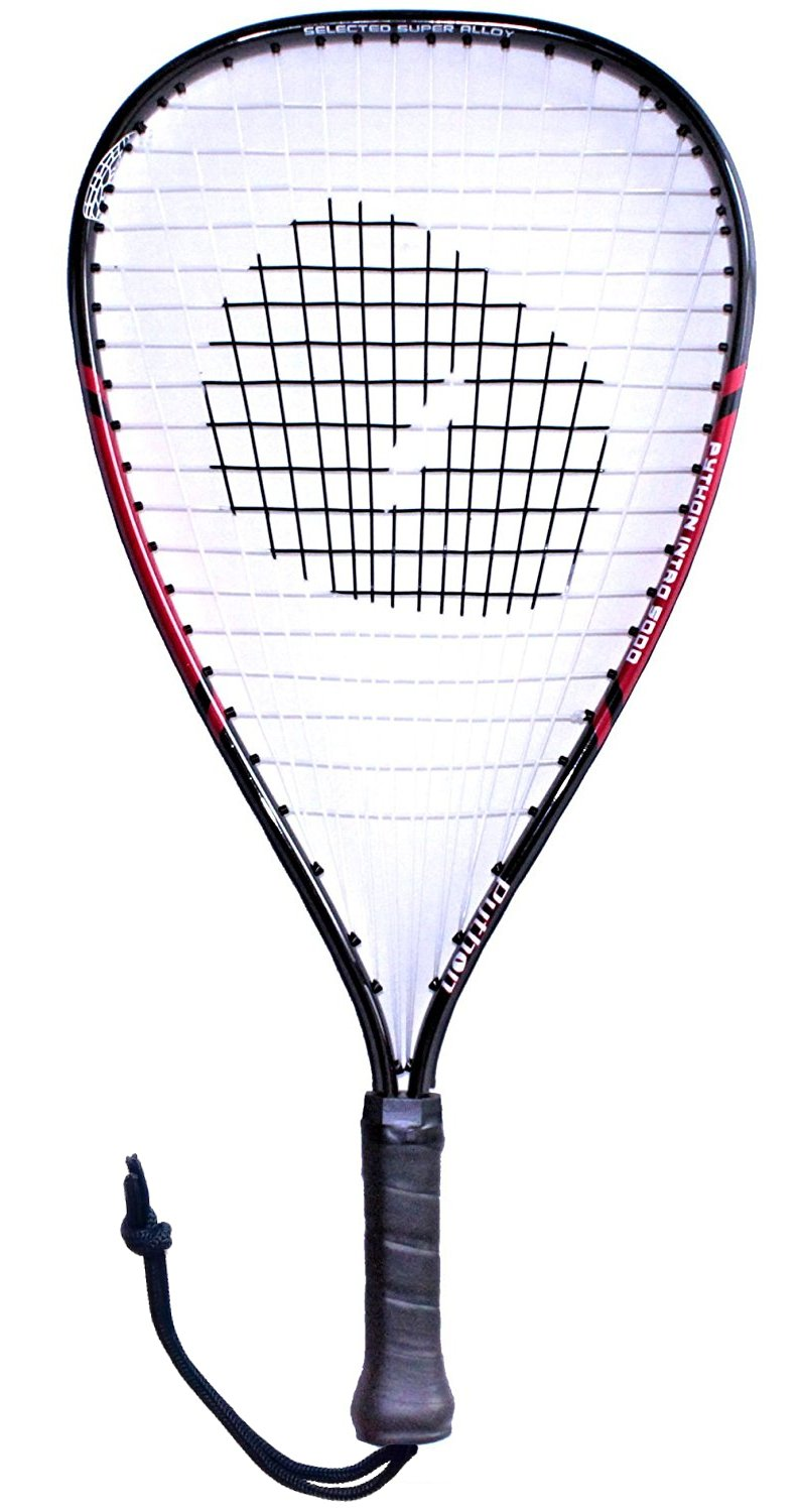 Python Intro 5000 Racquetball Racquet Series (Red)