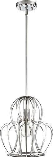 Craftmade P665CH1 Pendant Wire Cage Mini Pendant Lighting, 1-Light, 100 Watts, Chrome 12 W x 13 H
