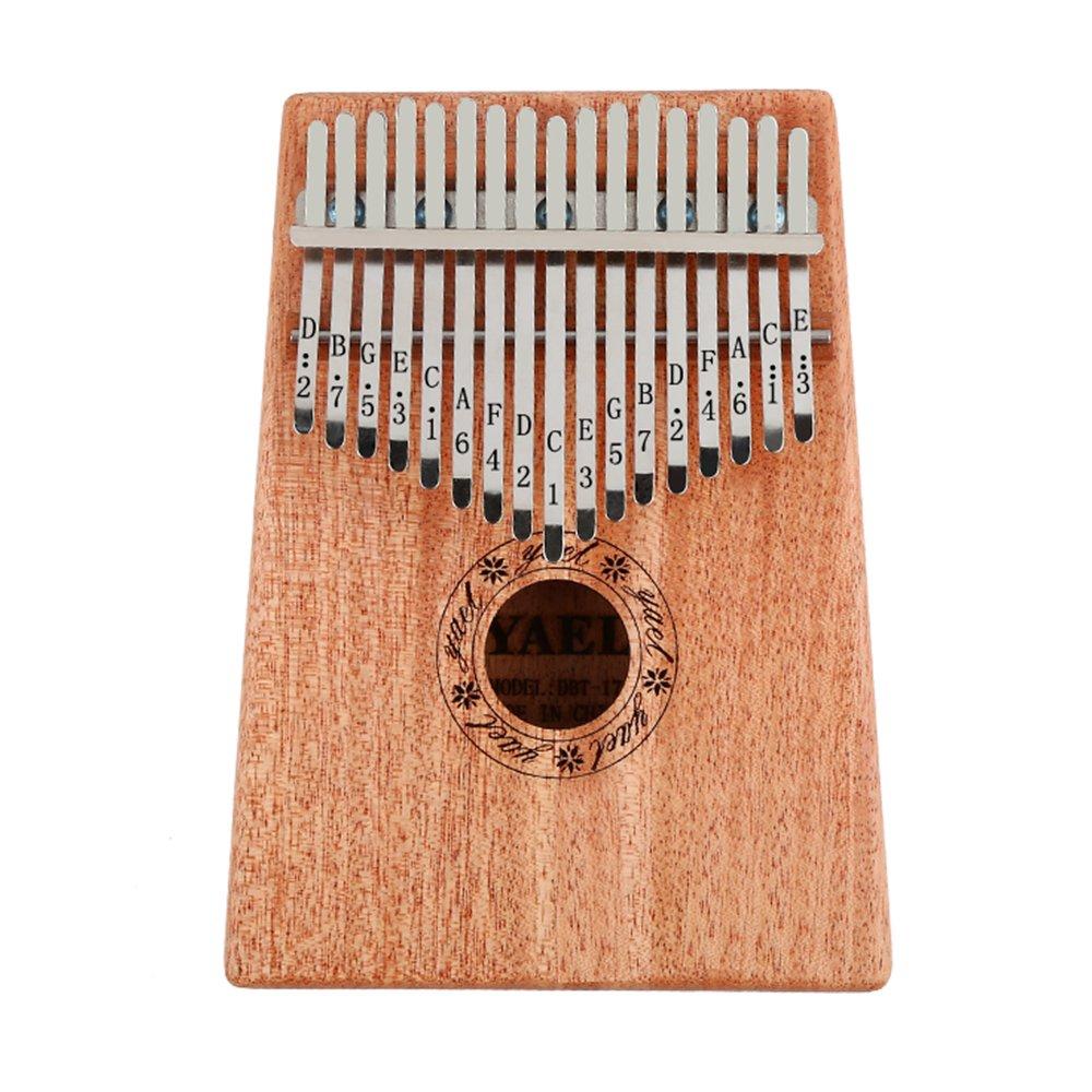KoEiTop Kalimba 17 Key with Mahogany,Portable Thumb Piano Mbira/Marimba Sanza of Wooden Attached Ore Metal Tines Music Gift (Mahogany Wood)