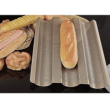 Francés pan molde de refrigeración accesorio de tarta de pan de horno antiadherente perforadas Wave tostar