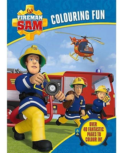 Amazon.com: Sam el bombero para colorear Fun actividad Libro ...
