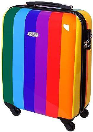 3de4f2a0c Karry - Maleta de viaje rígida estilo arcoíris multicolor Handgepäck  Regenbogen 50 x 40 x 20 cm: Amazon.es: Equipaje