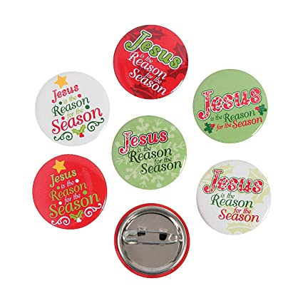 Amazon com: Fun Express - Jesus is The Reason Mini Buttons