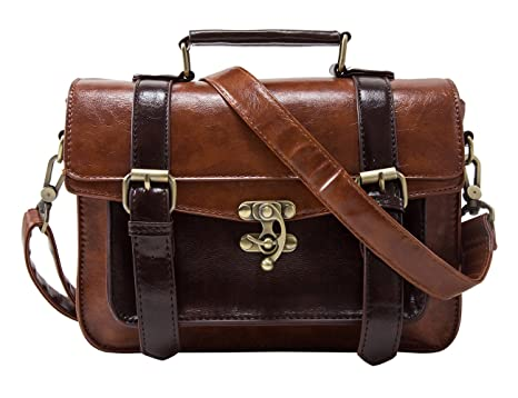 Amazon.com | ECOSUSI Fashion Girl's Faux Leather Satchel Purse ...
