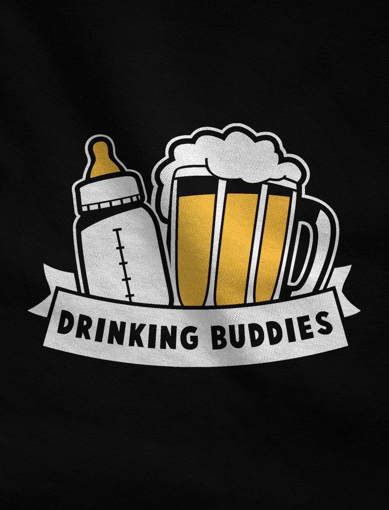 TeeStars – Drinking Buddies Baby & Dad Cute Baby Bodysuit