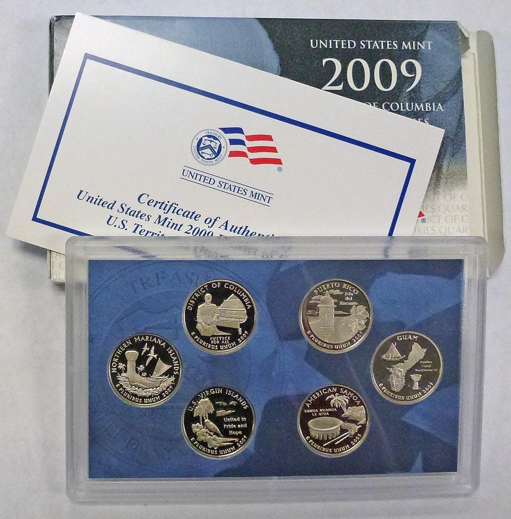 Territory ~ Mint Clad Proof from Proof Set 2009 S  Guam Quarter ~ U.S