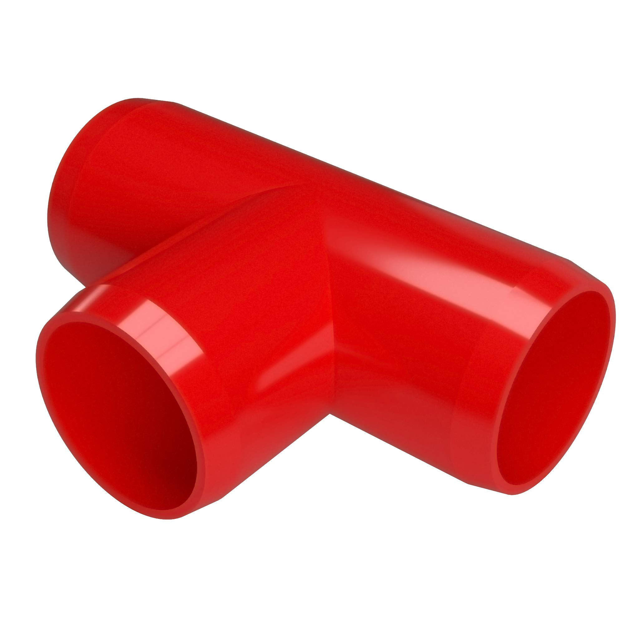 FORMUFIT F114TEE-RD-4 Tee PVC Fitting, Furniture Grade, 1-1/4'' Size, Red (Pack of 4)