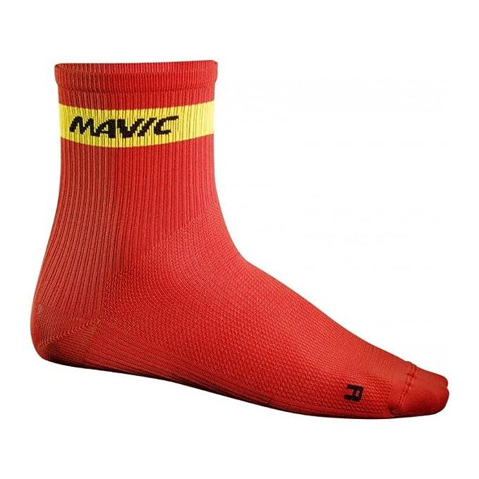 Mavic - Cosmic Mid Sock, Color Rojo, Talla EU 39-42: Amazon.es: Deportes y aire libre