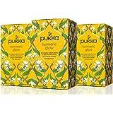 Pukka Herbs Organic Turmeric Glow Herbal Tea, 20 individually wrapped tea bags, 3 Count