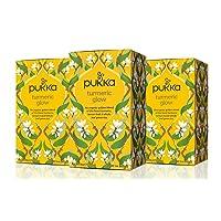 Pukka Herbs Turmeric Glow, Organic Herbal Tea With Lemon & Whole Leaf Green Tea...
