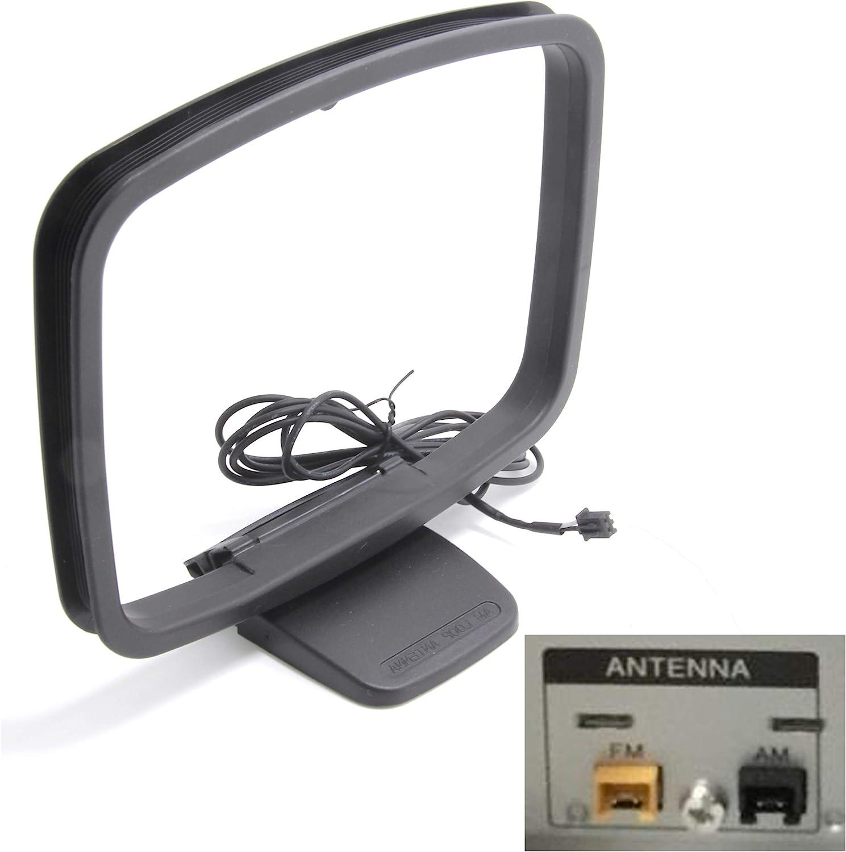 Ancable Repuesto de antena AM mini conector de 2 pines para receptor de disco compacto Sony MHC-EC919iP HCD-EC919iP MHC-EC719iP HCD-EC719iP