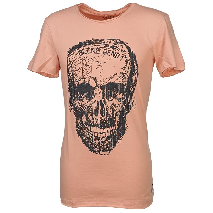 Blend Camiseta Slim Calavera Rosa ppQ6Qajab