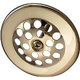 Keeney Manufacturing K5064DSPB Tarnish Free Dome Cover Bath Drain Strainer, Polished Brass