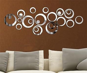 spiegel aufkleber aufkleber 3d-design moderne zukünftige ... - Moderne Spiegel Fur Wohnzimmer