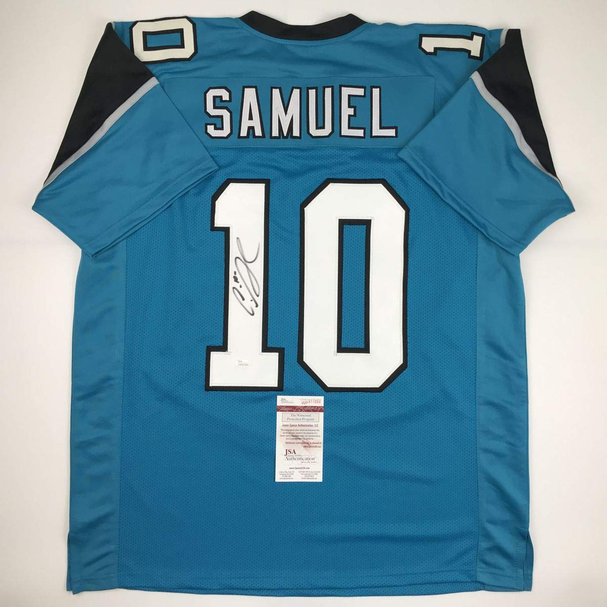 14ccc67ac Autographed Signed Curtis Samuel Carolina Blue Football Jersey JSA COA at  Amazon s Sports Collectibles Store