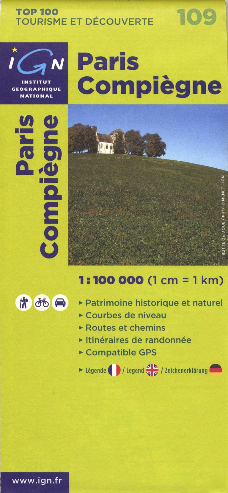 Download 109- Paris/Compiegne IGN Map (English, French and German Edition) ebook