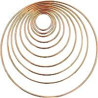 Mobile Basteln Mobile Ring Gold BETOY Anillos de Metal Dorado Anillos de Macram/é para Atrapasue/ños y Artesan/ías 10 Piezas 35//45//50//65//80//100//120//140//160//190 mm Atrapasue/ños Manualidades