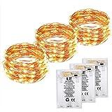 LE Stringa luminosa a LED in Rame, Impermeabile Pieghevole Bianco Caldo (6m*3)