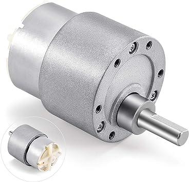 Nextrox Mini Fan Motors 12V DC 60 RPM High Torque Gear Box Electric Motor