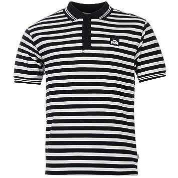 Lonsdale - Yarn Dye Polo de rayas camiseta para hombre azul marino ...