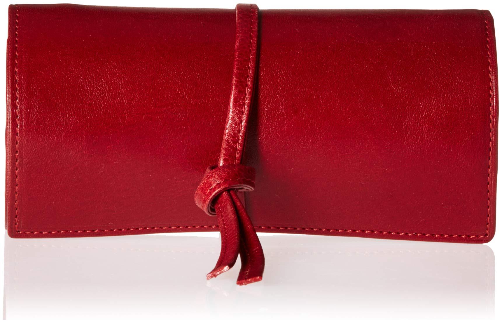 Tony Perotti Italian Bull Leather Grande Jewelry Roll Travel Organizer