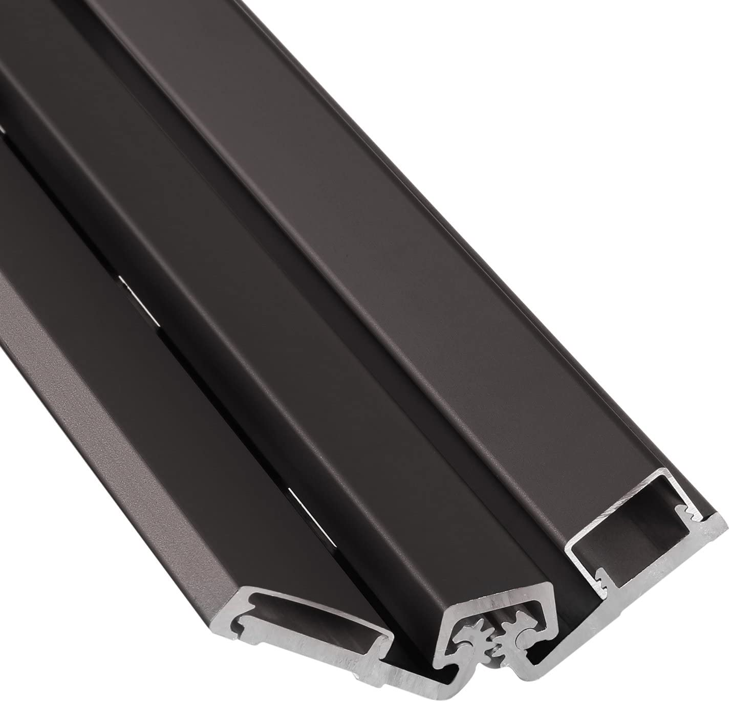 Anodized Center Pivot Dark Bronze-DU 83 inch Tamperproof great for repairing Storefront doors Heavy Duty Continuous Geared Hinge Compare to Select SL57 by Lawrence Hardware LHHD157 Full Surface