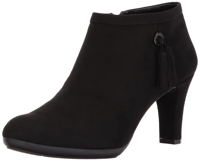 Anne Klein Women's Silva Fabric Ankle Boot B072BJCJVY 9 B(M) US|Black