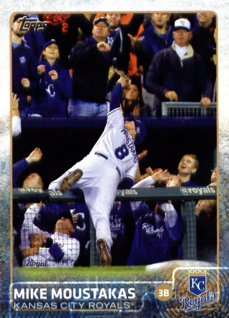 2015 Topps Mini #461 Mike Moustakas Baseball Card