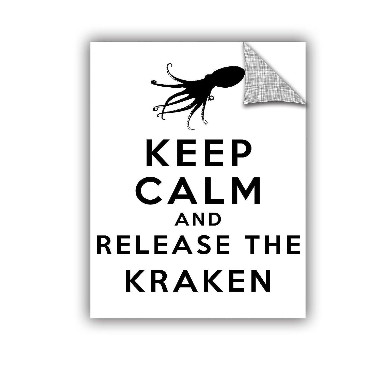 ArtWall Art D Signer Kccos Keep Calm and Release The Kraken Appeelz Removable Graphic Wall Art 24 by 32
