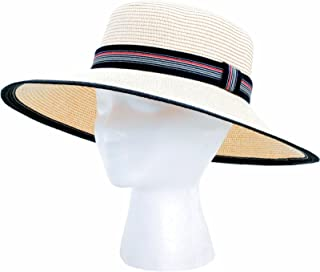 product image for Sloggers Sara, Women's Braided Garden Hat, White and Black (Discontinued by Manufacturer)