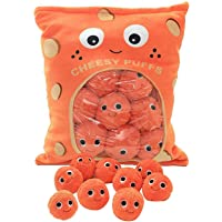 Cheese Puff Pillow with Cheese Puffs in It, Cheesy Puffs Plush Toy, Snack Bags Plush Toy, Stuffed Soft Snack Pillow for…