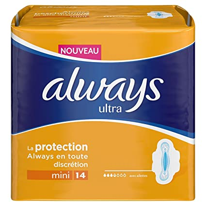 Always Ultramini Set de 14 toallas sanitarias con alas (lote de 3)