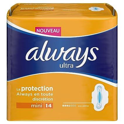 Always Ultramini Set de 14 toallas sanitarias con alas (lote de 3)