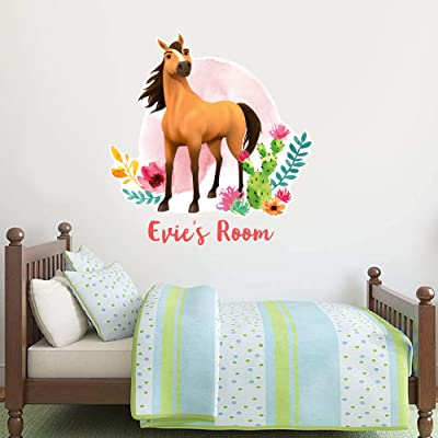 Spirit Riding Free Wall Sticker Spirit Personalised Wall Decal Vinyl Mural Kids Bedroom Art Horse (120cm Height x 105cm Width): Baby