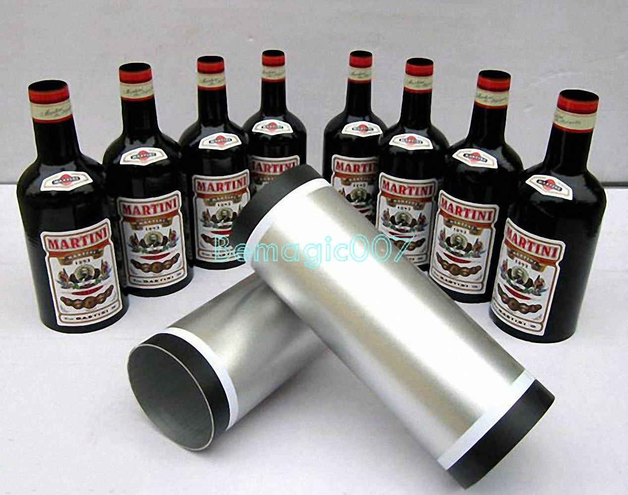 Multiplying Bottles Black 8 bottles - Stage Magic Tricks