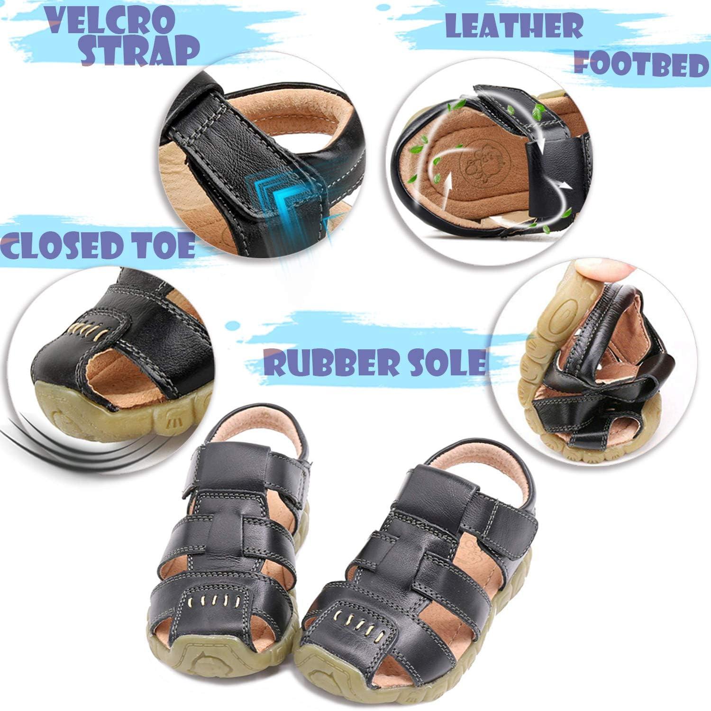 Saldgoiz Ni/ña Ni/ño Zapatos Sandalias Deportivas con Punta Cerrada de Senderismo Trail Zapatillas de Playa de Verano para Ni/ños 21-34