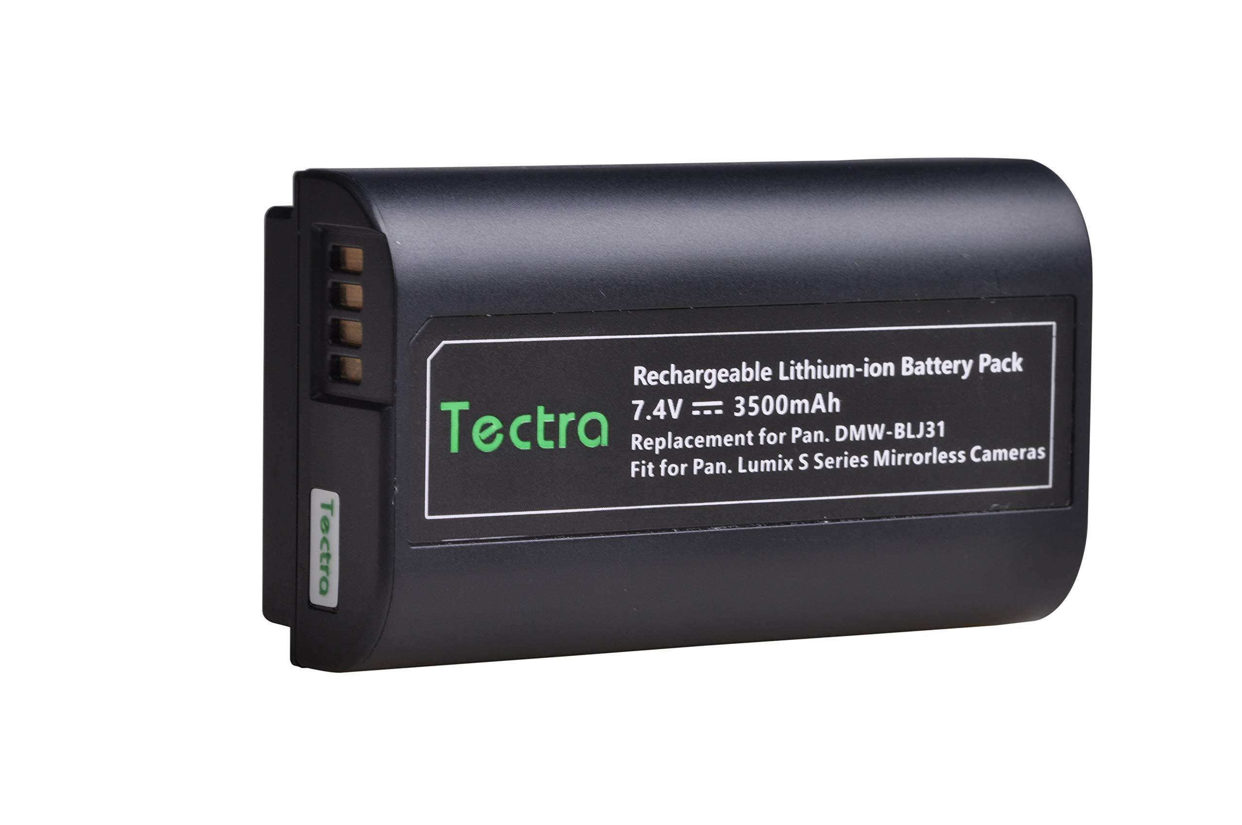 Tectra 7.4V 3500mAh DMW-BLJ31 Replacement Battery for Panasonic LUMIX S1, S1R,S1H, Panasonic LUMIX S Series Mirrorless Cameras by Tectra