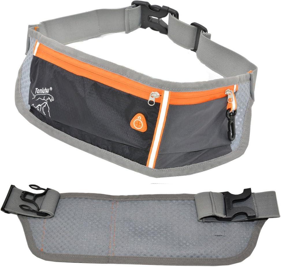 TANLUHU Running Waist Packs Unisex Running Belt Outdoor Sports Bag Large Capacity Reflective Waterproof Running Pack