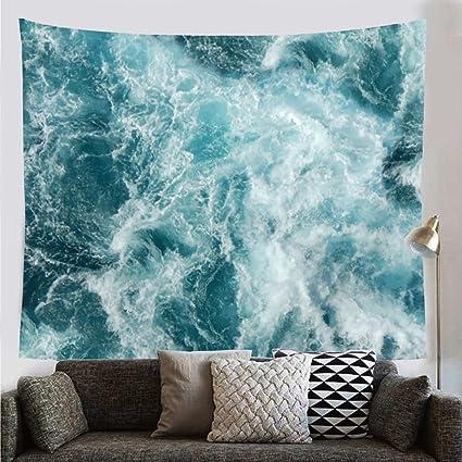 Patgoal Blue Ocean Mandala Bohemian Tapestry Wall Hanging Tapestry Indian  Wall Art Decor