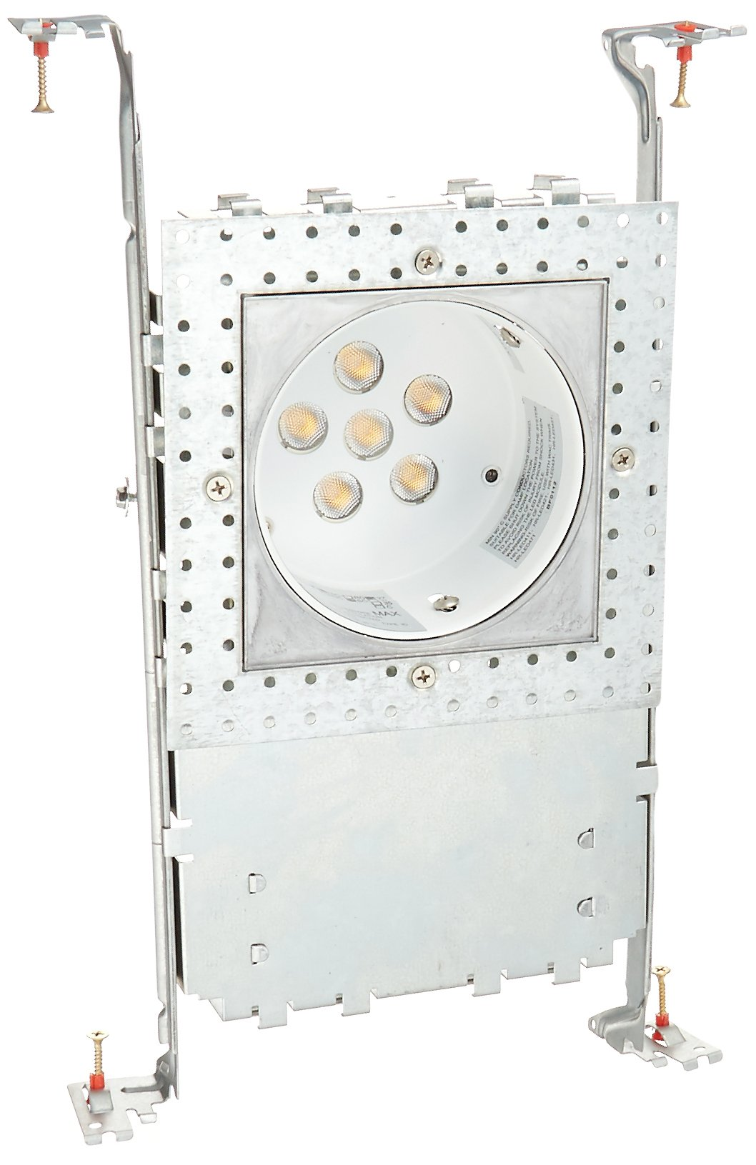 WAC Lighting HR-LED418-NIC-SQ27 LEDme 4-Inch Recessed Downlight - New Construction Invisible Trim - Ic-Rated Housing - 2700K