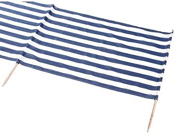 Idena Beach Wind Screen 5 x 0.80 m Blau//Weiss, 1x