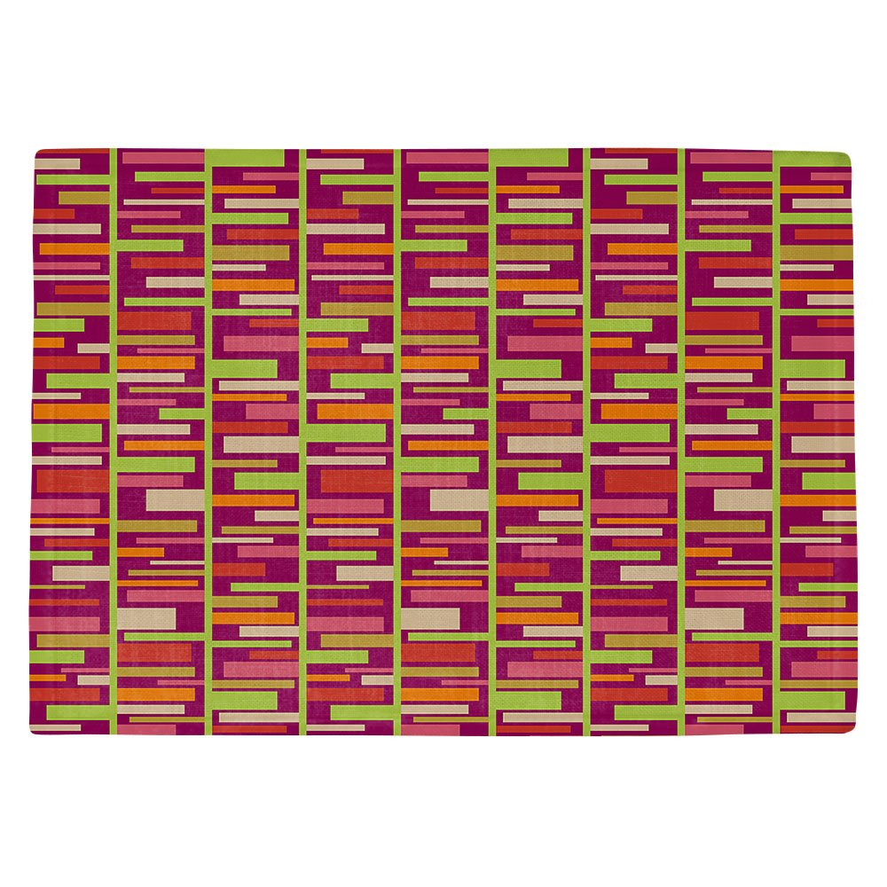 DIANOCHEキッチンPlaceマットbyジュリアGrifol – Colourful長方形 Set of 4 Placemats PM-JuliaGrifolColourfulRectangles2 Set of 4 Placemats  B01EXSHPOI