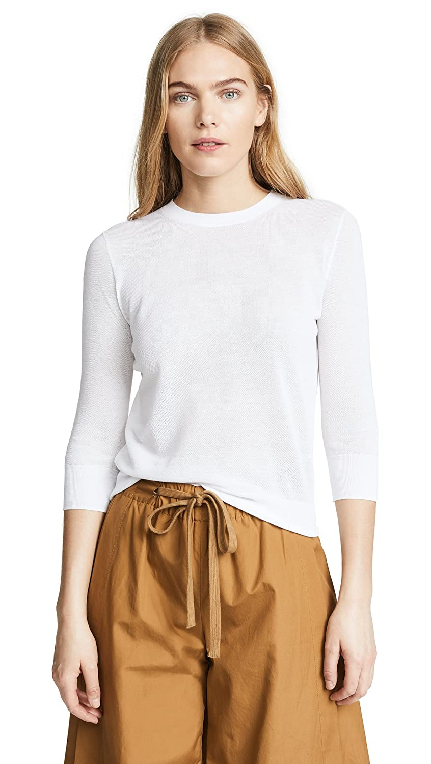Vince Women's Textured Pullover Optic White Large