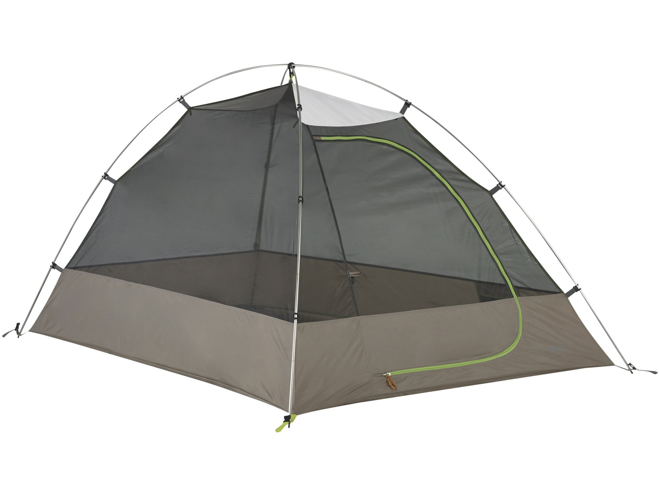 Kelty Grand Mesa 2 Person Dome Tent 82'' x 58'' x 44'' Polyester White, Gray and Green
