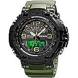 Mens Analog Digital LED 50M Waterproof Outdoor Sport Watch Military Multifunction Casual Dual Display 12H/24H Stopwatch Calen