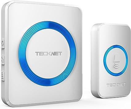 Waterproof Cordless Door Chime Kit Battery-operated TECKNET Wireless Doorbell