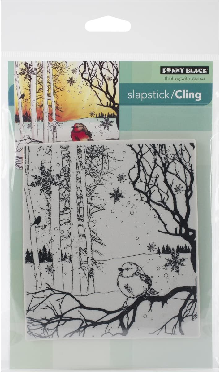 Penny Black PB40583 Cling Stamps Dressed in Snow