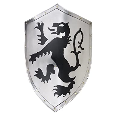 Amazon Medieval Knight Shield Iron Steel Lion Shied Crusade