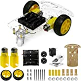 The perseids DIY Robot Smart Car Chassis Kit with Speed Encoder, Wheels and Battery Box (2 Wheels)