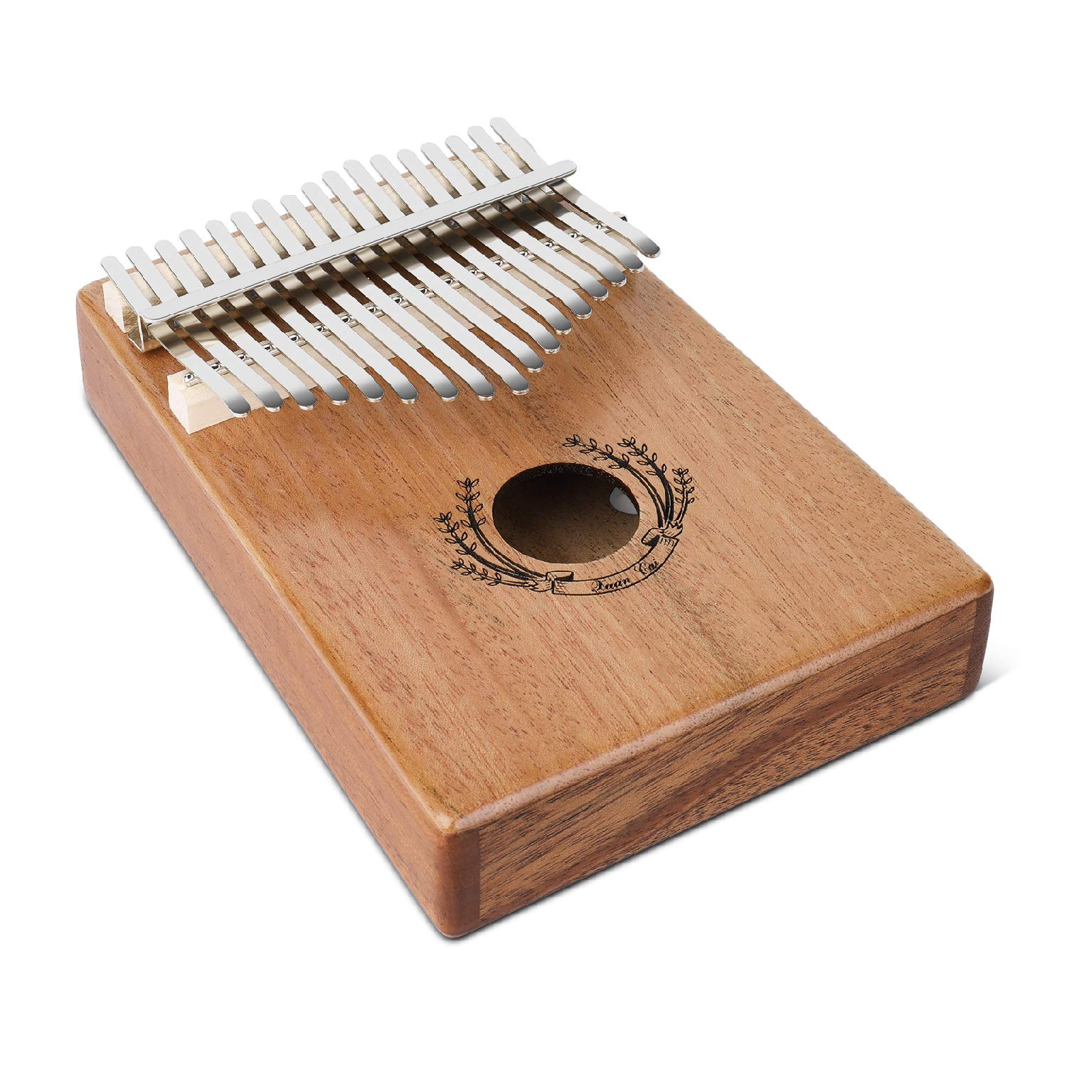 Flexzion Kalimba 17 Keys Thumb Piano, Mbira 17 Tone Finger Piano Portable African Musical Instrument with Musical Scorebook/Learning Booklet, Tune Hammer, Storage Carrying Bag by Flexzion (Image #2)